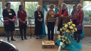 Women at the Portland Women's Enrichment Weekend.