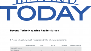 This is a graphic of the magazine reader survey.