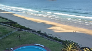 View from the hotel in Mosel Bay, South Africa.
