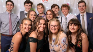 Teens who attended the Southeast Regional Formal.