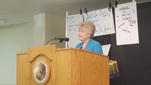 Carol Symkowiak speaks at the the Southwest Missouri Weekend.