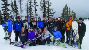 Skiers pose for a picture at the Spokane Washington Ski weekend.