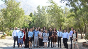 Campers and staff enjoy a sunny Sabbath during the UYC program in Chile.