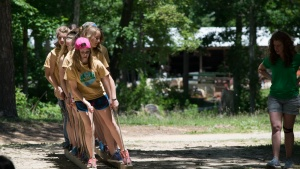 Campers enjoying one of the exciting activities. These types of activities are always planned by dedicated staff members willing to volunteer their time.