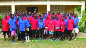 Campers from Ghana Youth Camp.