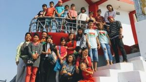 Youth who were part of the camp program in Myanmar.