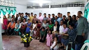 Kiara congregation meeting once again in their church hall.