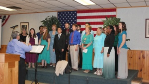 ABC chorale of the class of 2016, sings at a local congregation. As an ABC student you have many opportunities to learn to serve.