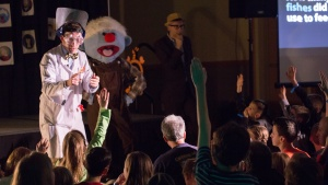 Professor Puddy made a special appearance at the Jelly Gameshow this past Winter Family Weekend!