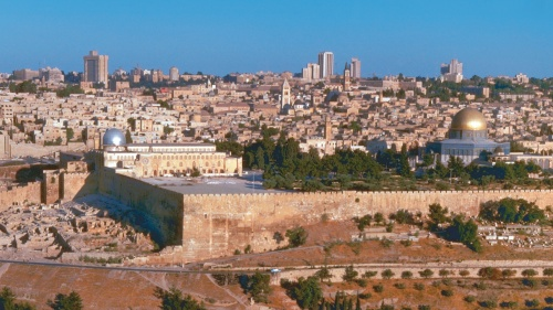 Panoramic view of Jerusalem.