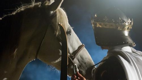 The white horse of false religion.