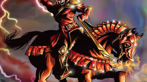 Red horse of war described in Revelation 6.