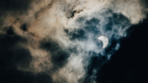 A photo of an eclipse.