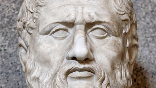 Plato (428-348 B.C.), the Greek philosopher and student of Socrates.