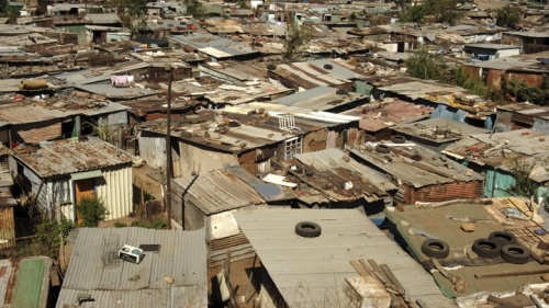 Roof tops of a shanty town.