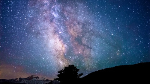 A night sky filled with stars.