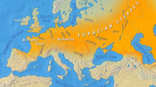 Eurasian Steppes map
