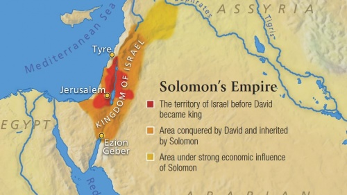 Map showing Solomon's Empire
