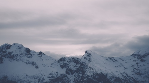 Mountains covered with snow.