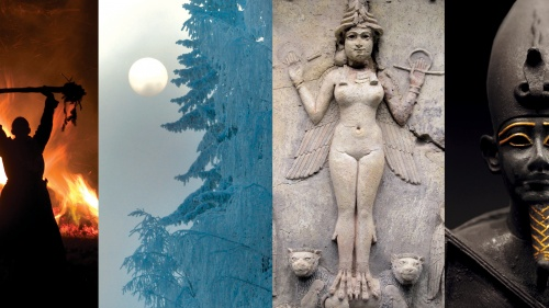Celtic Festival, Druidic Winter Solstice, Babylonian Ishtar and Egyptian Osiris