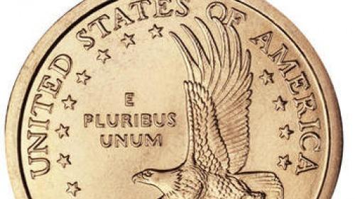 US $1 dollar coin