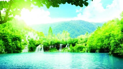 A scenic lake.
