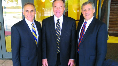 The hosts of Beyond Today: Steve Myers, Darris McNeely and Gary Petty.