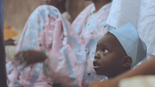 A photo of young child in Nigeria.