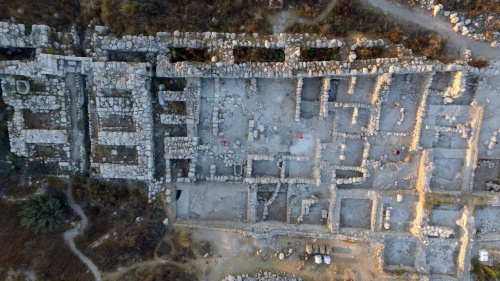 Excavations at Tel Gezer in Israel