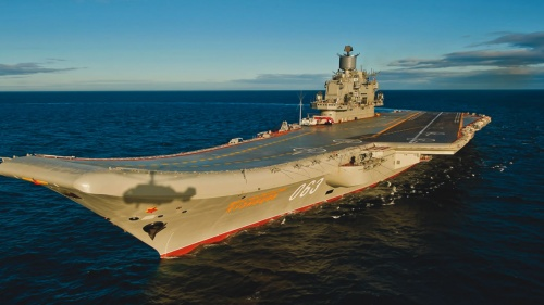 Old Russian aircraft carrier.