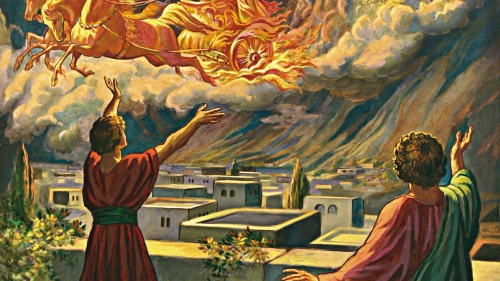 An artist's rendition of the heavenly army of angels from 2 Kings 6:11-17.