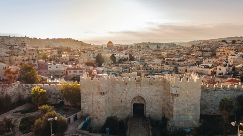 The Damascus Gate in Jerusalem.