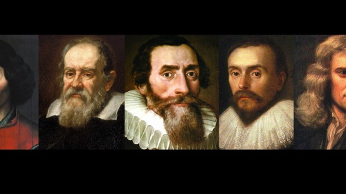 Nicolaus Copernicus, Galileo Galilei, Johann Kepler, William Harvey and Sir Isaac Newton.