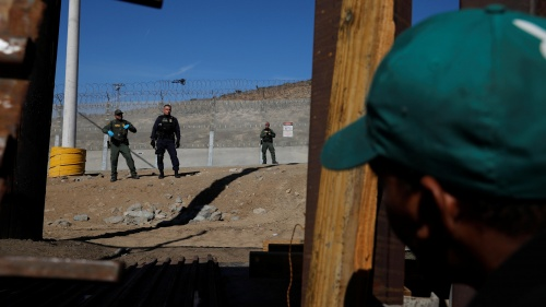 A border crossing.
