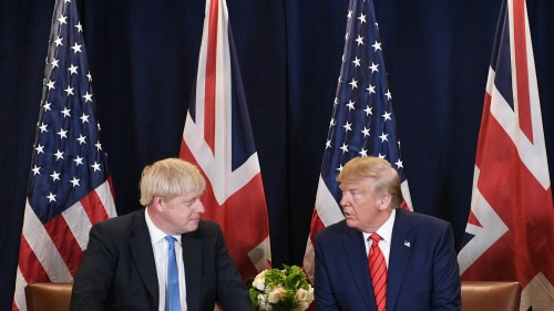 Britain's Prime Minister Boris Johnson and U.S. President Donald Trump.