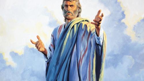 An artist rendition of a prophet.