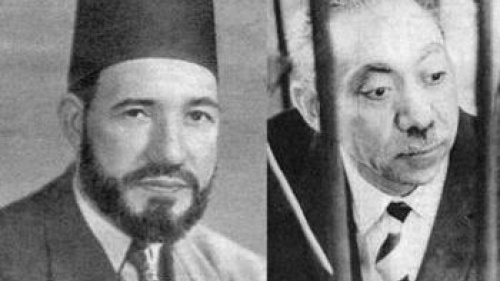Photos of founders of the Muslim Brotherhood