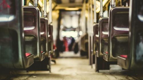 An empty bus.