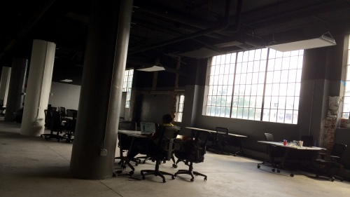 A large open office space.