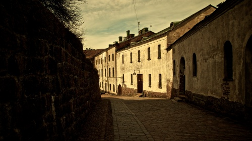 A old street in an old town.