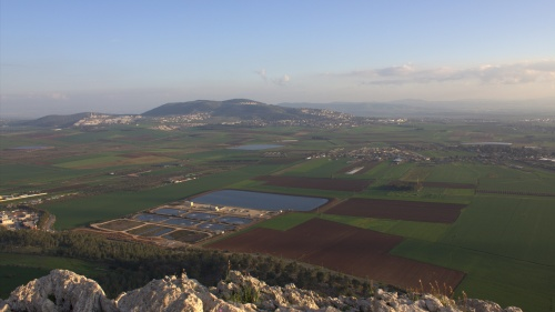 Valley of Jezreel in Israel.