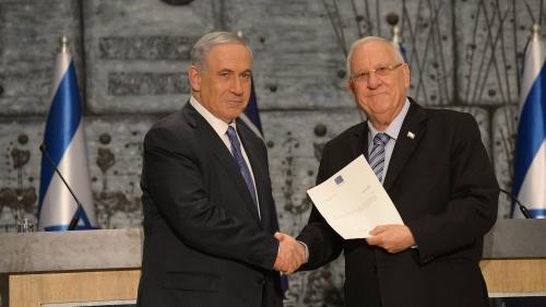 Israeli President Reuven Rivlin and Israeli Prime Minister Benjamin Netanyahu