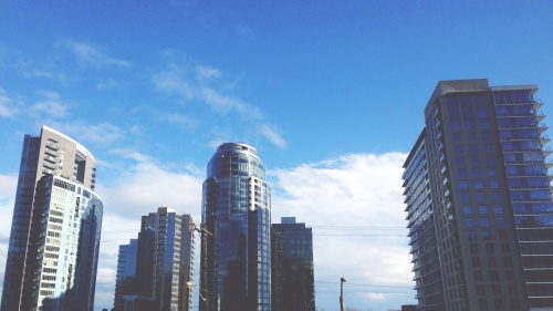 Buildings in a big city.