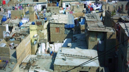 A settlement in Karachi, Pakistan.