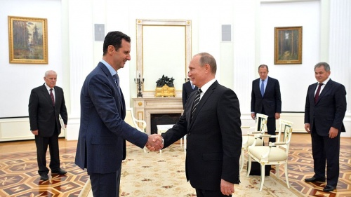 President of Syria Bashar al-Assad with Russian President Vladimir Putin (October 2015)