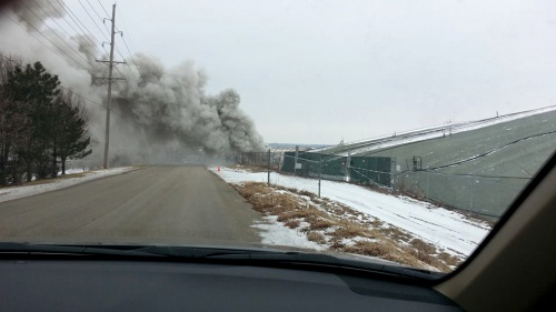 Surface fire at St. Louis West Lake landfill in 2014.