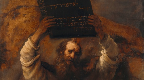 Rembrandt's (1606–1669) Moses Smashing the Tablets of the Law, 1659