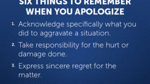 Six things to remember when you apologize.