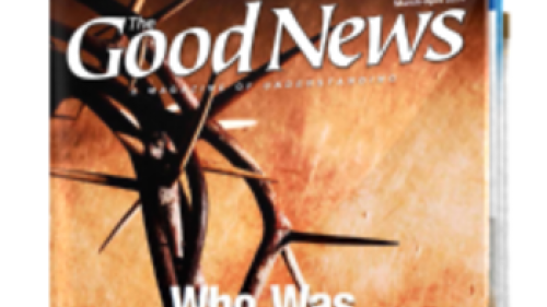Cover of the Good News - March/April 2014 edition.
