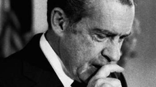 US  President Richard Nixon
